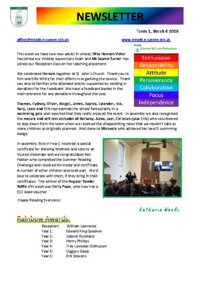 Newsletter Term 1 Week 4