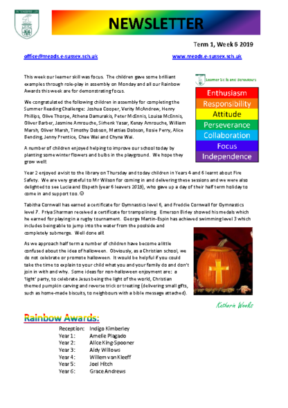 Newsletter Term1 Week 6
