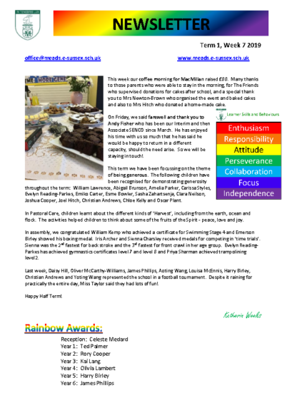Newsletter Term1 Week 7