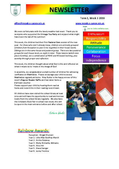 Newsletter Term 1 Week 3