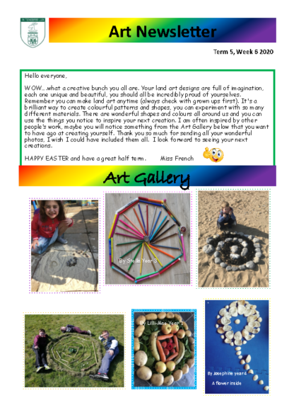 Art Newsletter Term 4 Week 6