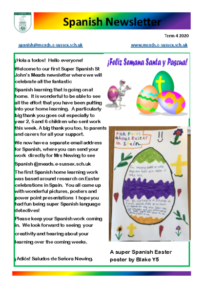 Spanish Newsletter Term 4 Week 6